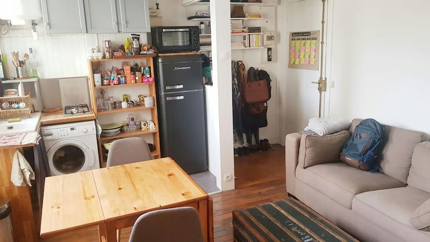 Appartement paris 20 28m2