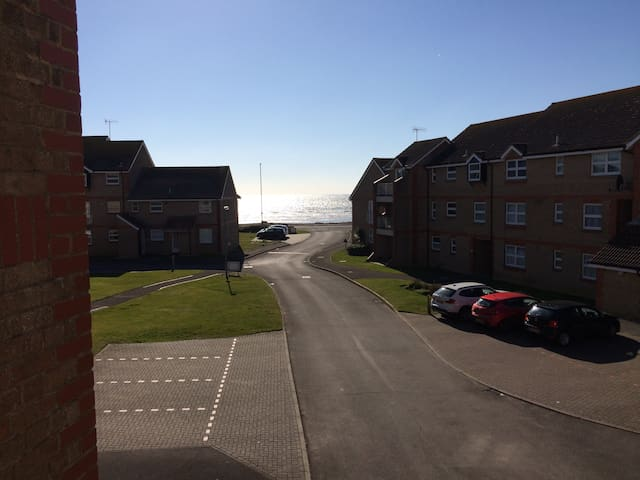 Seafront views double bedroom apartment