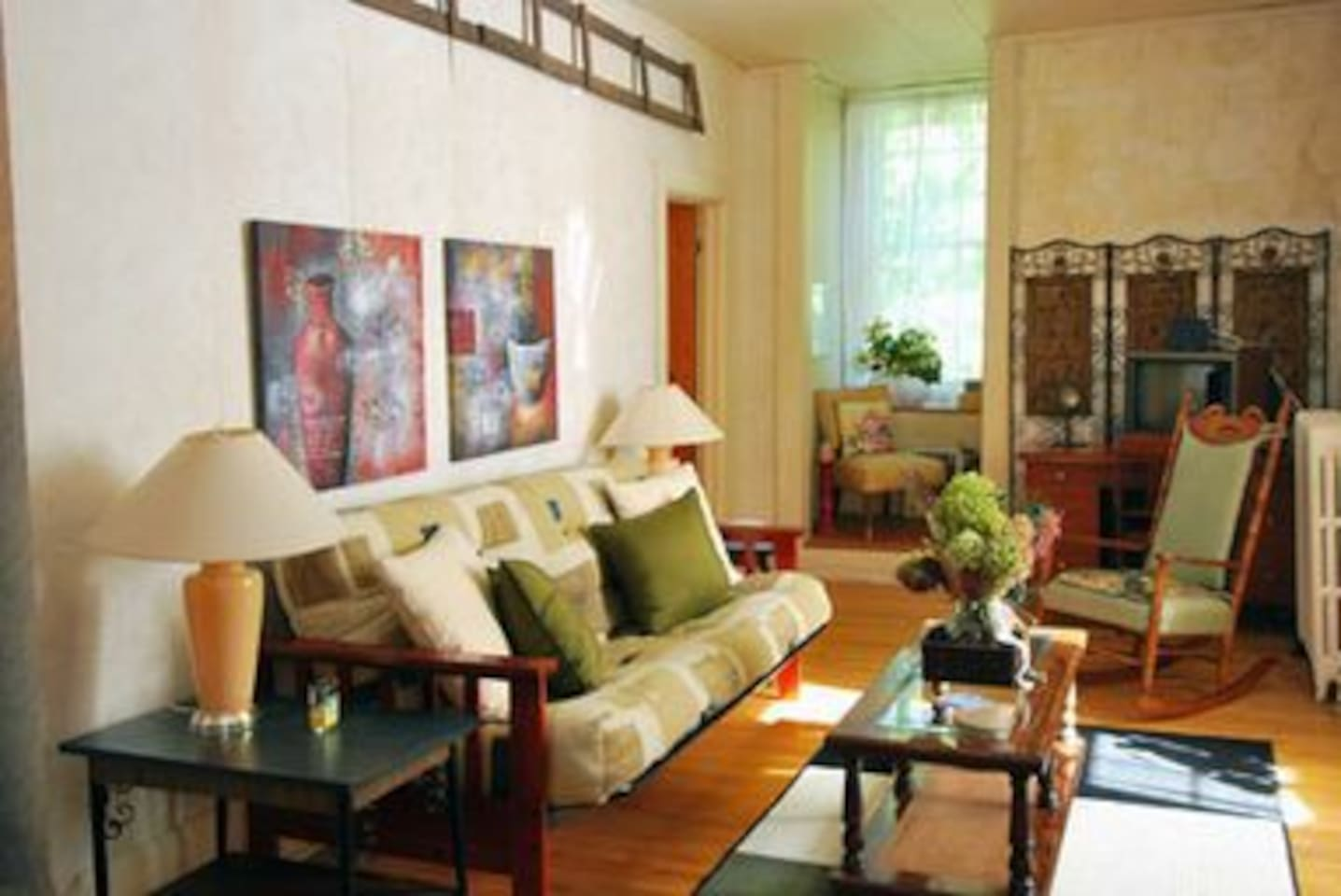"""The """"Nixon/McLeod suite offers all the amennities of a small apartment."""
