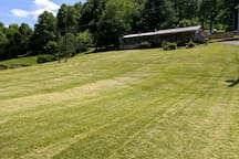The front yard.