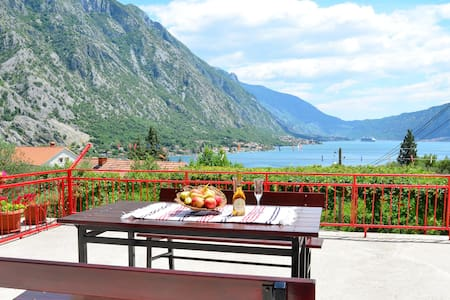 Panorama view apartment on Boka Bay and Kotor