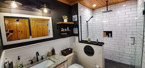 Scavi rustici su acri con grande doccia personalizzata!