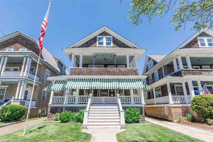 Grand Cape May Home- One Short Block to the Beach!