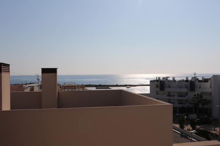 Roof terrace with on the sea Orihuela Costa