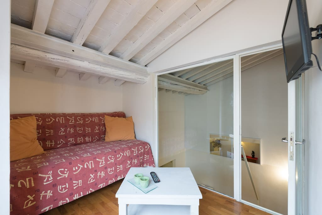 attic in the center of  Florence
