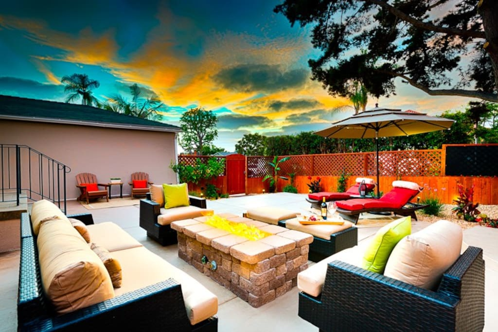 Enjoy evening sunsets from the main patio