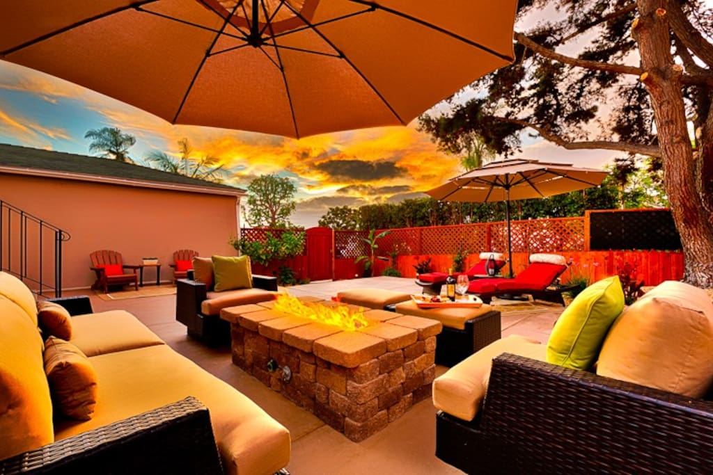 Relaxation awaits on the main patio
