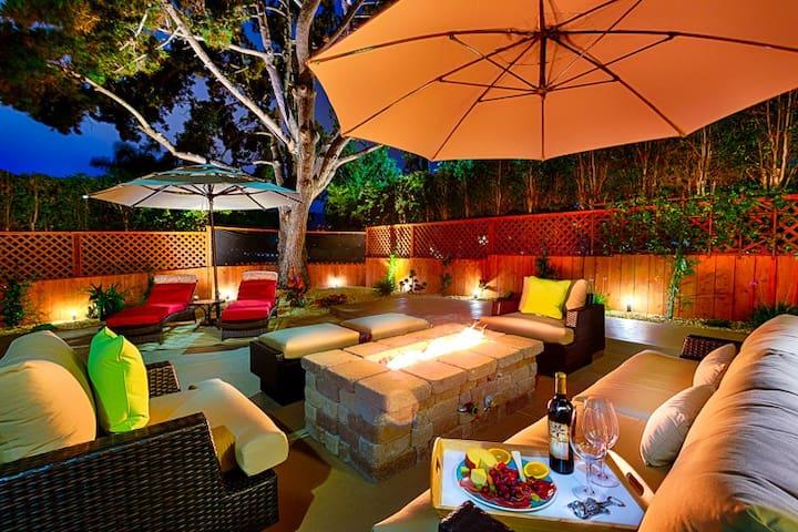 WindanSea Beach  Hot Tub, Firechat\ LG cozy patio