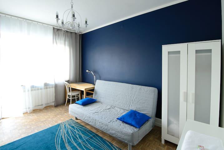 Blue room & Bike. Warsaw Sunrise
