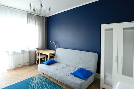 Blue room & Bike. Warsaw Sunrise - Warszawa