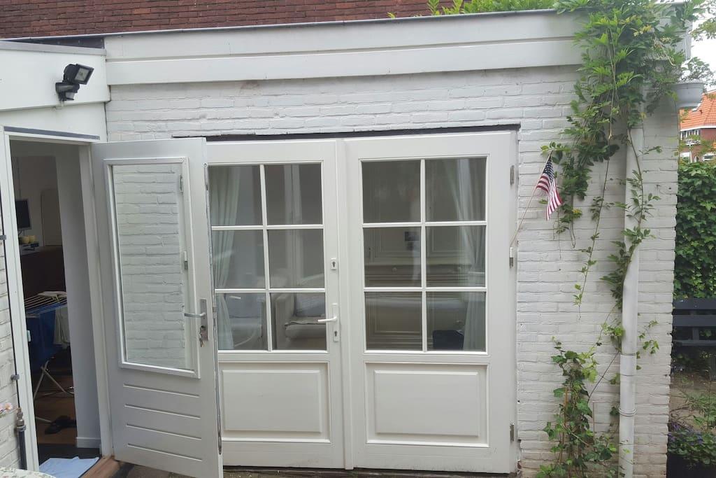 Nice big doors to garden, private entrance