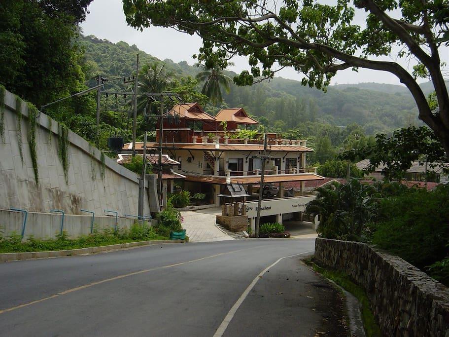 Seaview Residence from Kata Noi Rd.