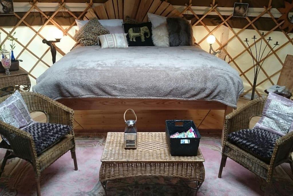 Interior: Bespoke solid ash super king bed now.