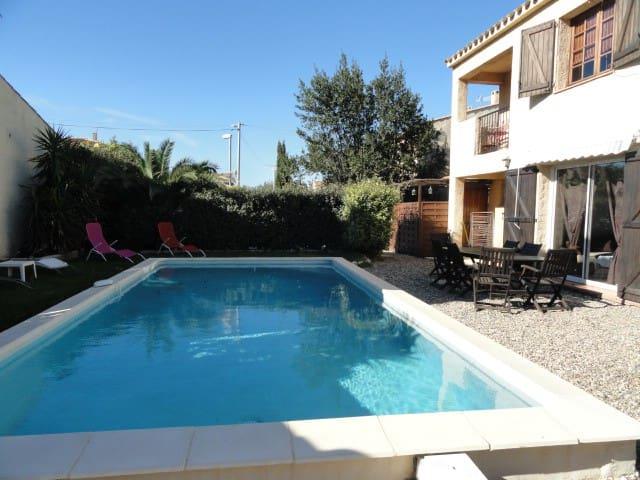 villa piscine privée proche plage - Valras-Plage - Villa