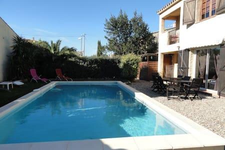 villa piscine privée proche plage - Valras-Plage - 別荘