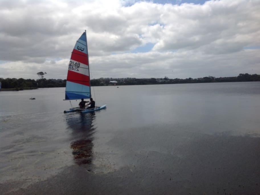 Fancy a sail on the sheltered lake?