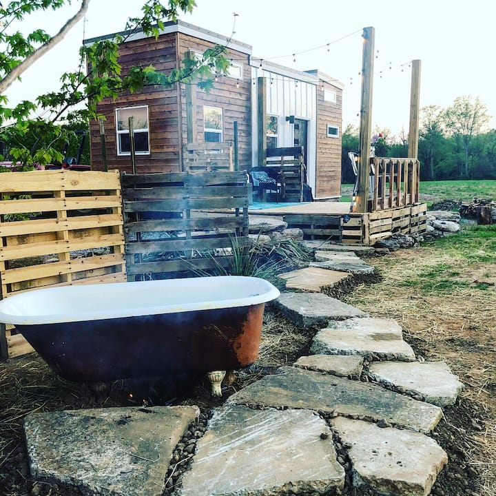 Tiny House + Wood Fire Pizza Oven
