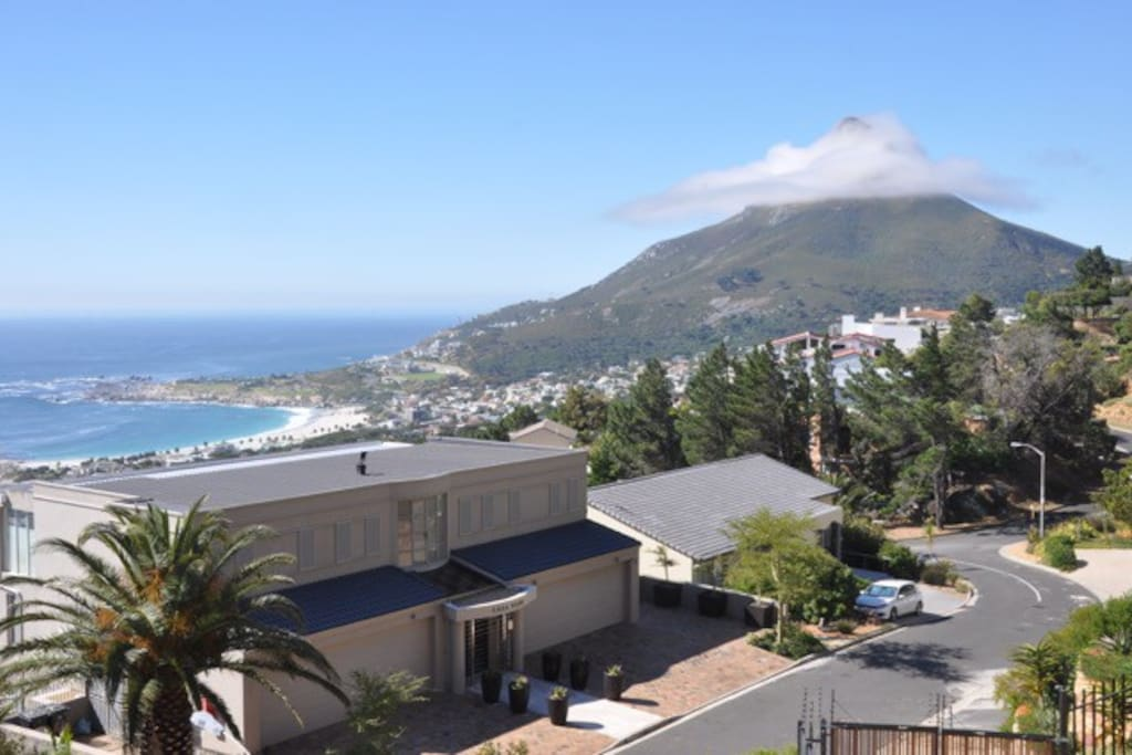 view from the living room to Lion's head