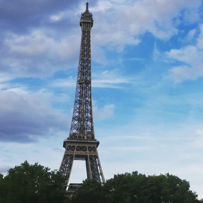 à 3min à pied de la Tour Eiffel