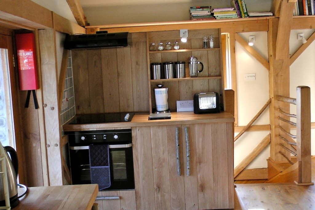 Part of the open plan kitchen