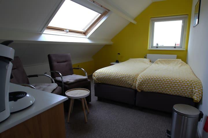 Fijne kamer voor 2 personen op eiland Texel