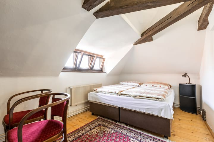 Beautiful attic double room