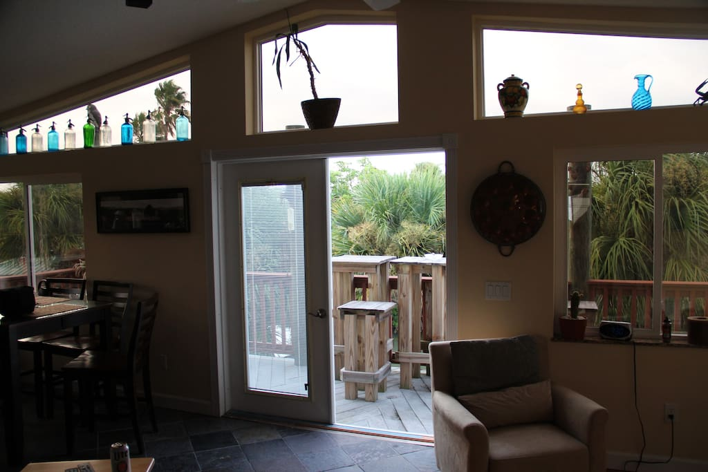 View to outside deck.