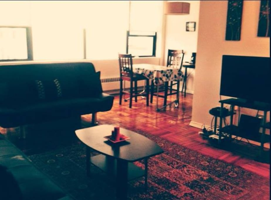 Living room. Both couches fold out.