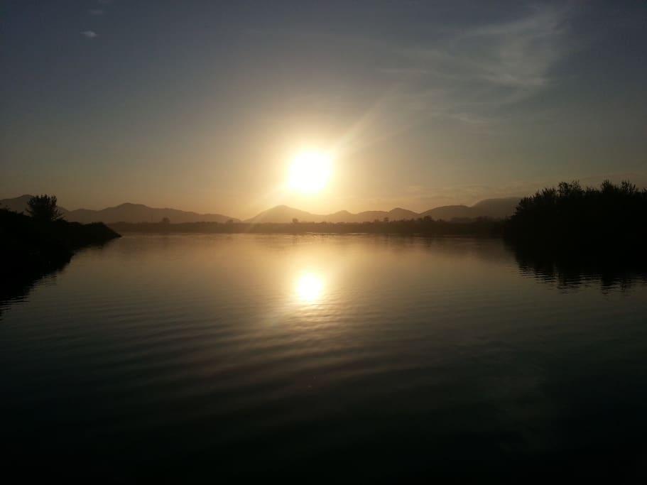 Por do Sol na Lagoa da Reserva!