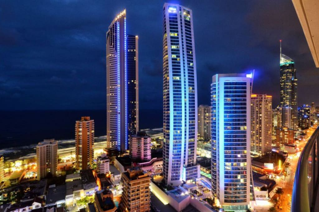 Your exact views from apartment 1283 - Level 28 Chevron Renaissance Resort Surfers Paradise