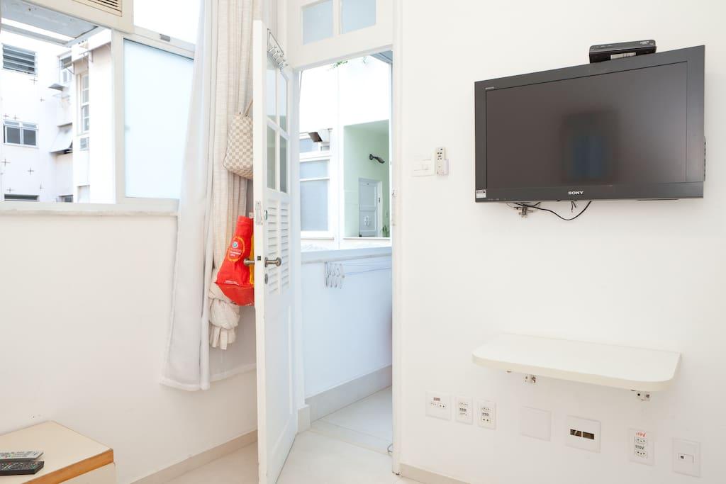 TV cable.air conditioner,fridge bar ,ceiling fun