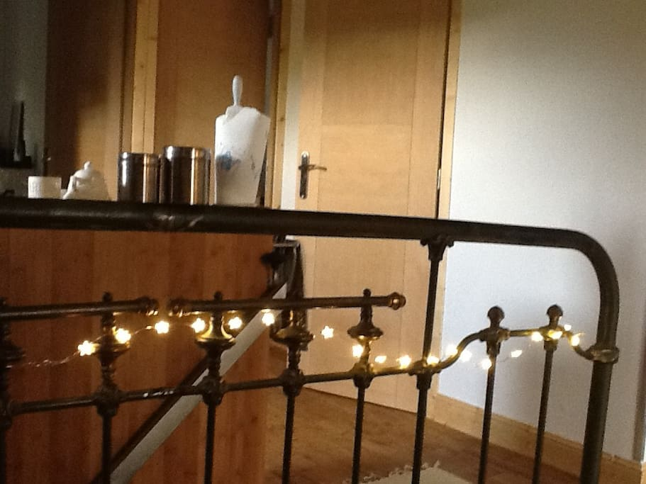 Recycled French bedstead to create a bespoke stair rail ou