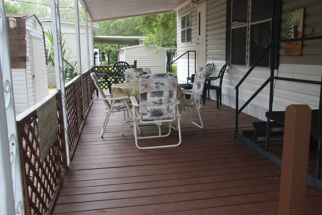 View of deck.