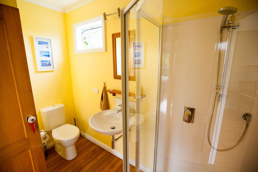 New bathroom with shower.