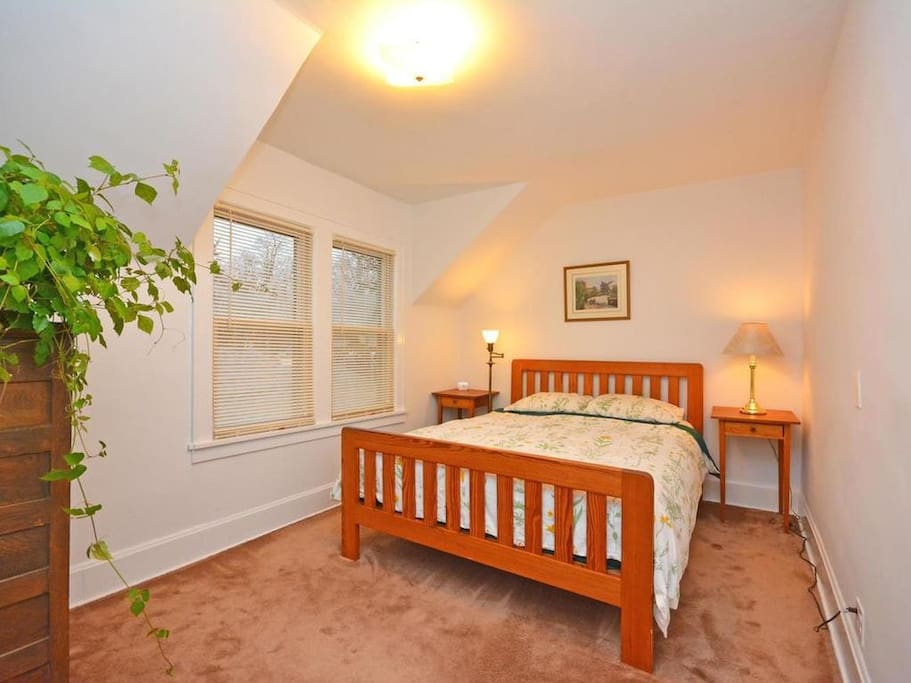 Currently setup as a nursery, this can be a bedroom for two adults or small children.