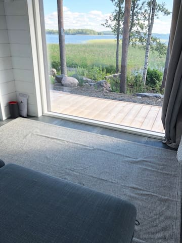 View from the sauna cottage room