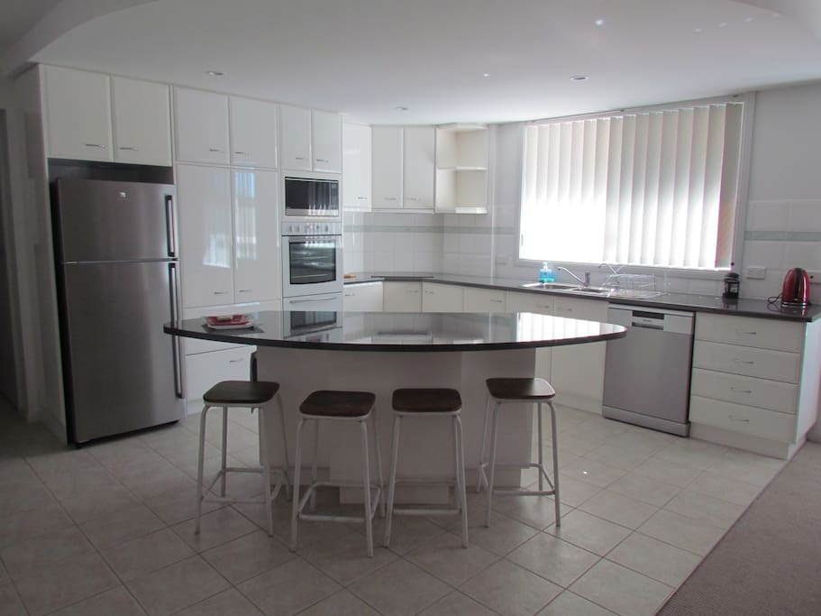 Open planned fully equipped kitchen