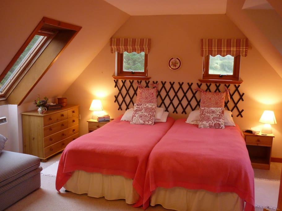 Master Bedroom upstairs, with ensuite bathroom