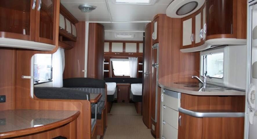 Grote Luxe Caravan op camping In de Ardennen 5pp