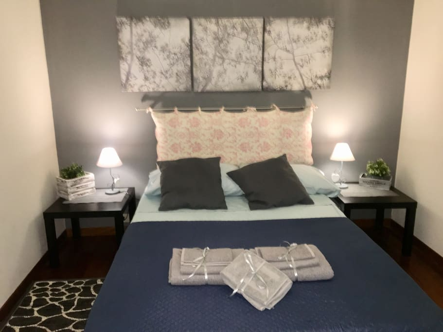 a corner refined and comfortable where you will find the bed
