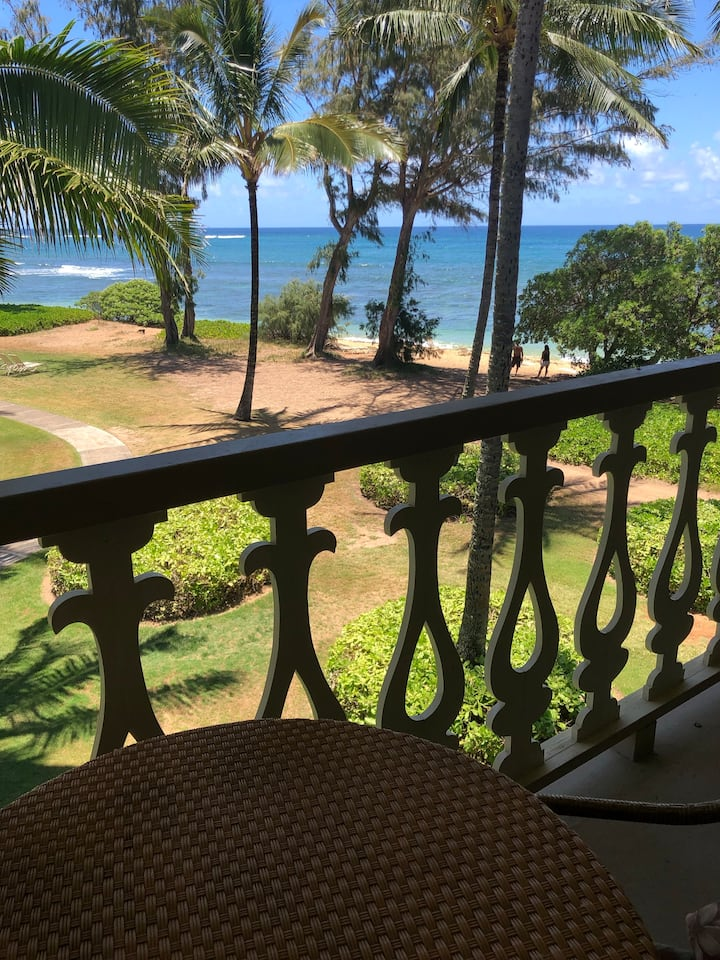 Kauai Top Floor Oceanfront / View Condo #363