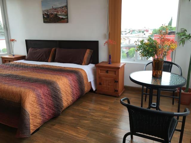 Beautiful suite with Popocatepetl volcano view - Heroica Puebla de Zaragoza - Apartamento