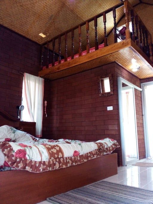 Top bed on the attic