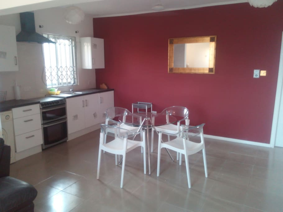 fitted kitchen with appliances equipped for two persons.