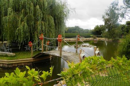 véritable  yourte, pêche,piscine - Méral - Rundzelt