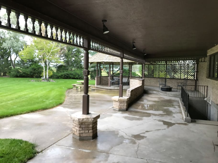 Lots of covered patio space