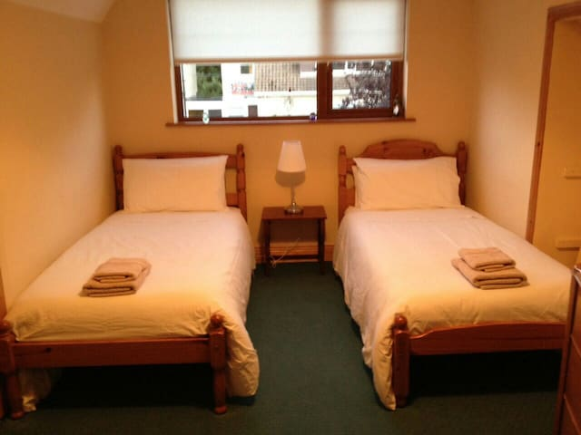Lovely twin room in Dublin - Templeogue - Casa