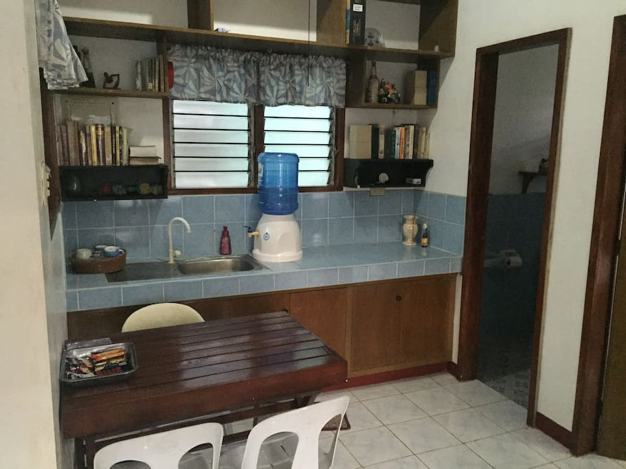 Kitchen area. Butane stove can be supplied on request (no additional fee)