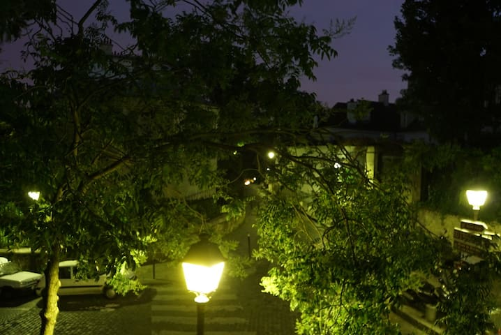 as you see it doesn't lost its charm when the night comes .View at night from the living room