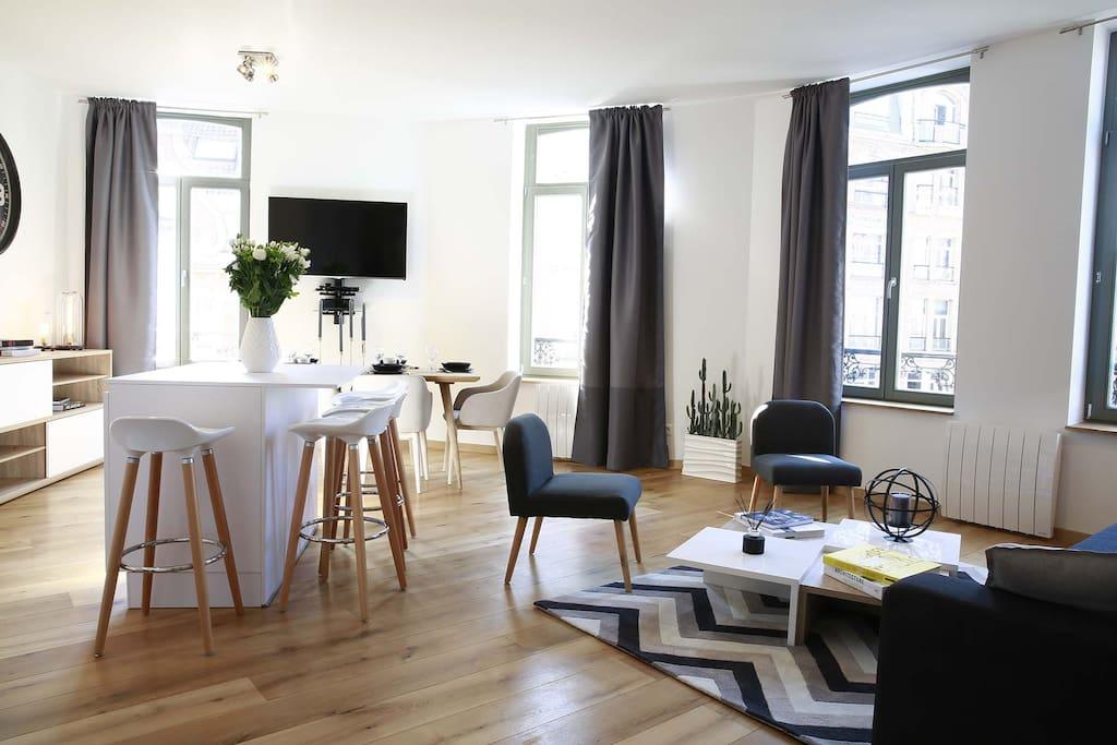 appartement t2 le vendome apartments for rent in lille nord pas de calais france. Black Bedroom Furniture Sets. Home Design Ideas